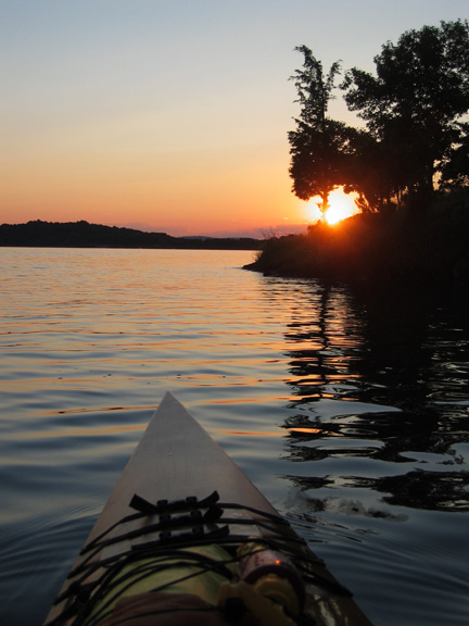 View of Sunset from the Kayak